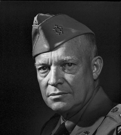 Gereral of the Army Dwight David Eisenhower, 1946. Photo by Joseph Karsh