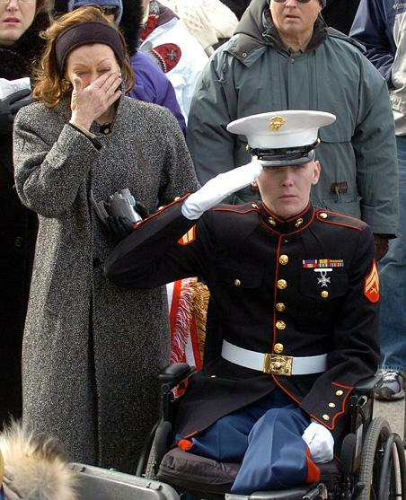 Marine in wheelchair