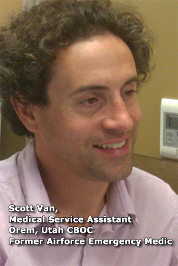 Scott Van, Medical Service Assistant, Orem, Ut. CBOC