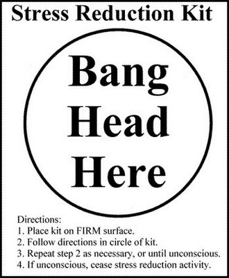 Bang Head Here ` this is a joke