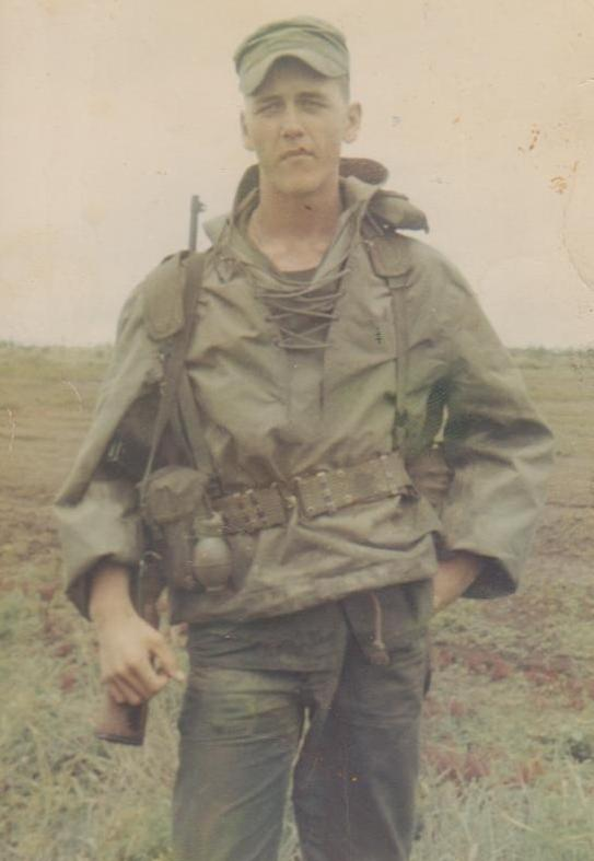 Tim Matthews in 67 with his M2 carbine
